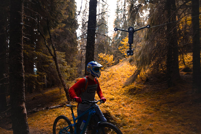 Wiral LITE and mountain biker in the forest
