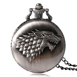 Game of Thrones - Strak Family Crest - Winter is Coming Designer Pocket Watch (REF1083)