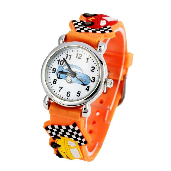 Cartoon Car 3D Child Wristwatch (REF1052)