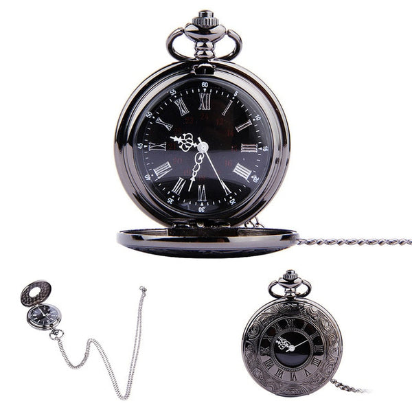 Fob Pocket Watch Vintage Roman Numerals Quartz (REF1081)