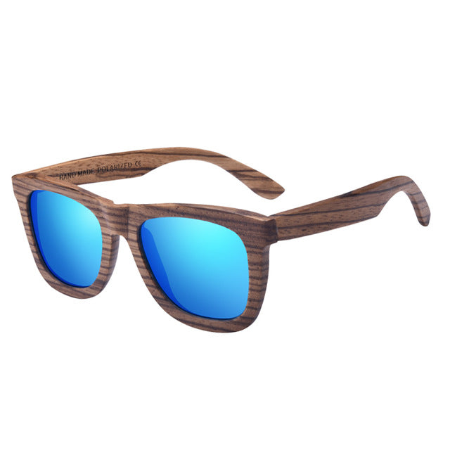 AOFLY Walnut Wood Polarized Sunglasses Women/ Men Handmade 9REF1210)