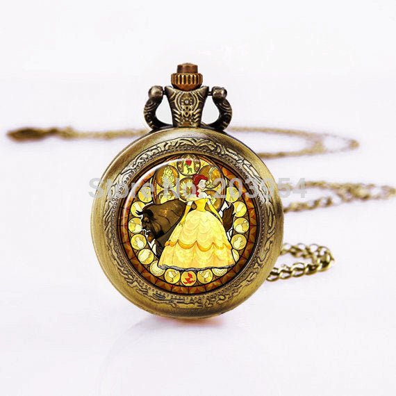 Beauty and the Beast Steampunk Pocket Watch (Ref6001)