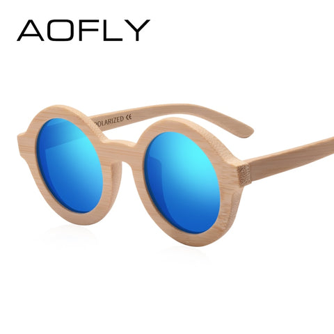 AOFLY BRAND DESIGN Wooden Fashion Sunglasses For Women 9REF1211)