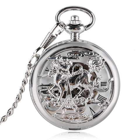 Luxury Chinese Mythological Beasts Pocket Watch(REF 9004)