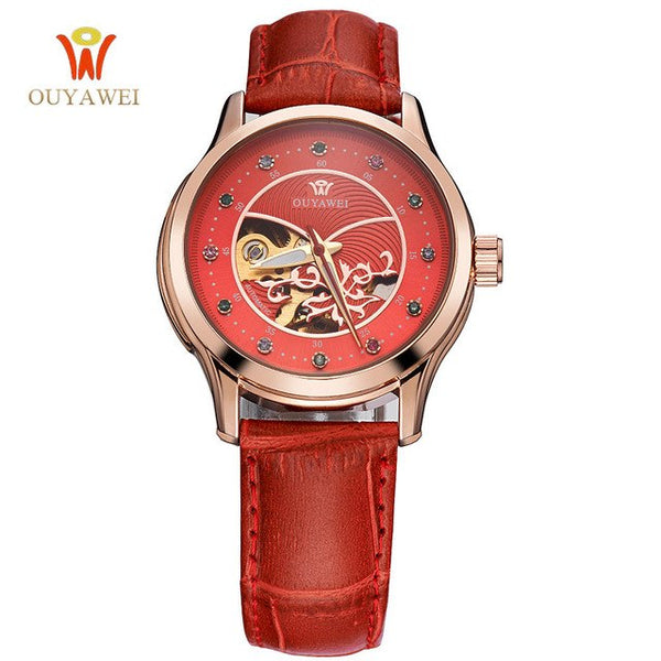 OUYAWEI Womens Skeleton Automatic Wristwatch (Ref5303)