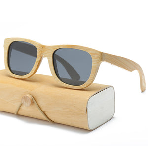 Wood Sunglasses Men/ women square bamboo  Handmade with case