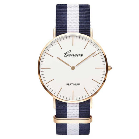 Nylon Strap Style Quartz Women Wristwatch (REF1103)