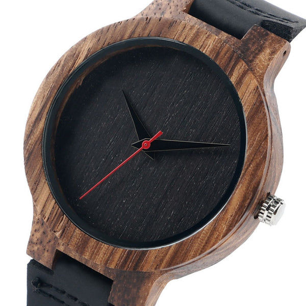 Black/Coffee/Green Dial Natural Bamboo Unisex Wooden Wristwatch (REF1017)