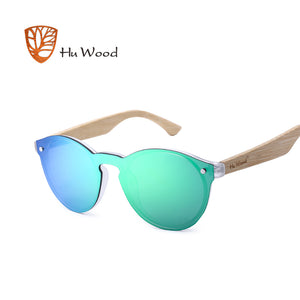 HU WOOD Mirror Lenses Wooden Sunglasses (REF1201)
