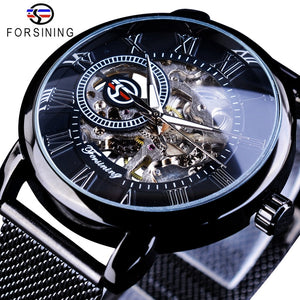 Forsining Mens Retro Design Skeleton Sport Mechanical Watch with Luminous Hands (REF1168)