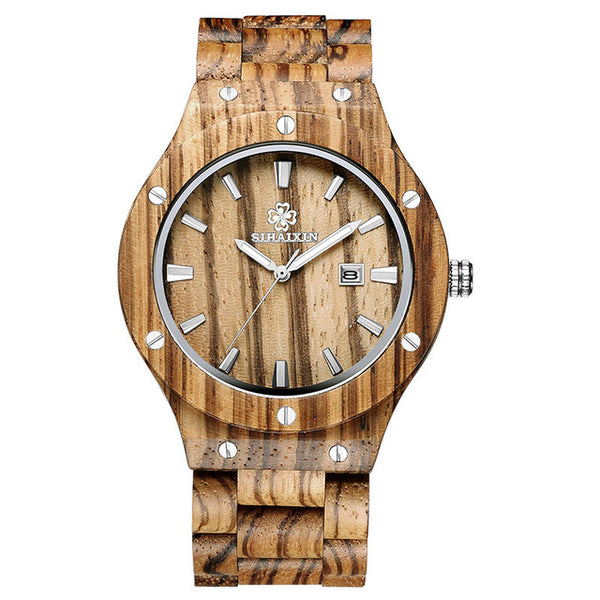 SIHAIXIN Casual Mens Wooden Wristwatch (REF1120)