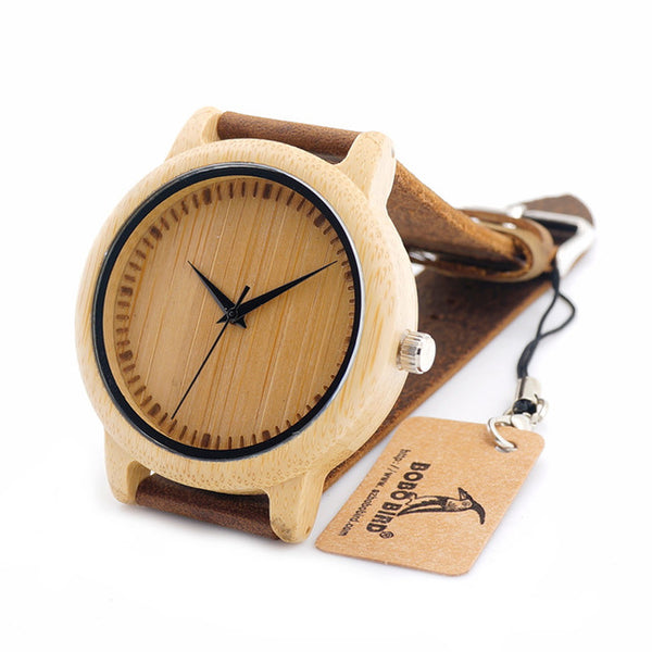 BOBO BIRD Unisex Quartz Wooden Wristwatch (REF1037)