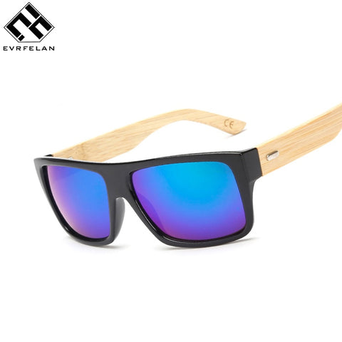 Evrfelan Mens Outdoor Sporty Sunglasses Wooden Legs (REF1170)
