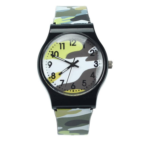 Childrens Camouflage Quartz Wristwatch (REF1055)