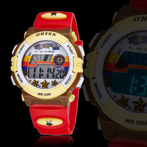 Waterproof Childrens Wristwatch Luminous Rubber Strap (REF1153)