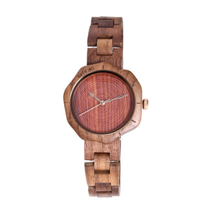 Walnut Unique Ladies Wooden Wristwatch (REF2012)