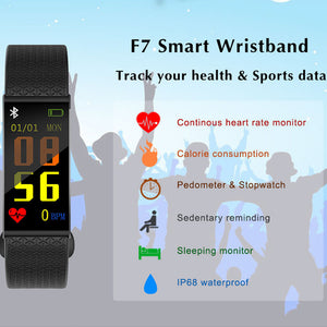 Smart Color Screen Blood Pressure Exercise Heart Rate Pedometer Smart Watch(REF5131)