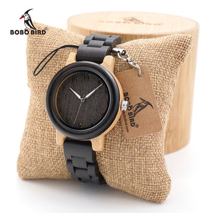 BOBO BIRD Womans Bamboo Wooden Wristwatch (REF1041)