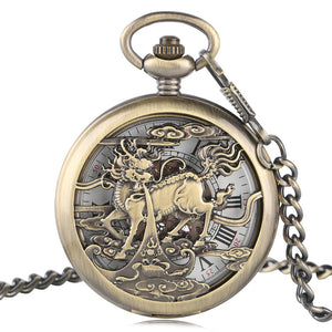 Vintage Pocket Watch, Fashion Unique Mechanical Pocket Watch, Gift for Men