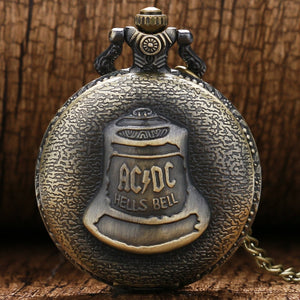 Vintage Bronze Retro Shao Lin Temple Pocket Watch with Chain (REF1145)