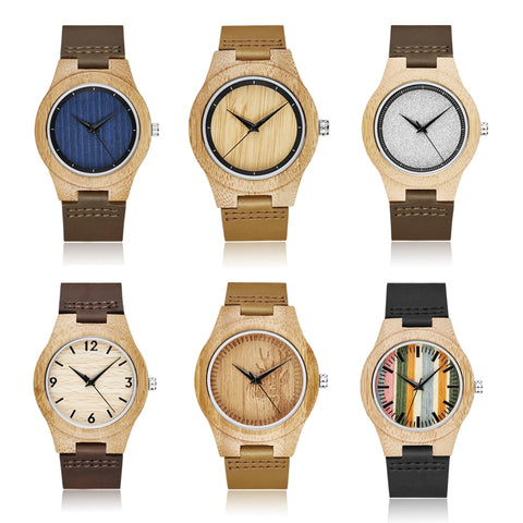 Mens Wooden  Wristwatch, Minimalist Design (REF1098)
