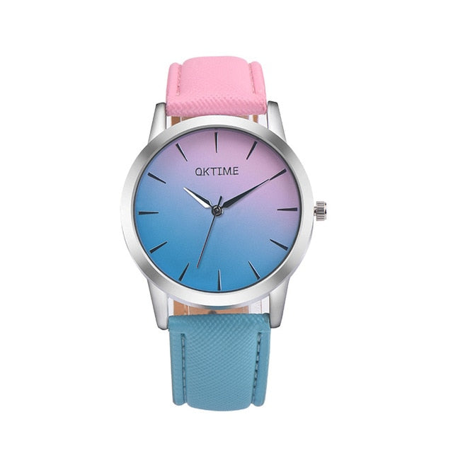 Women's Quartz Wrist Watch Retro Rainbow Design (REF1156)
