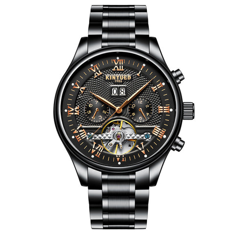 KINYUED Business Watch Automatic Mechanical Watches 3ATM Water-resistant Men Wristwatch Male Relogio Musculino