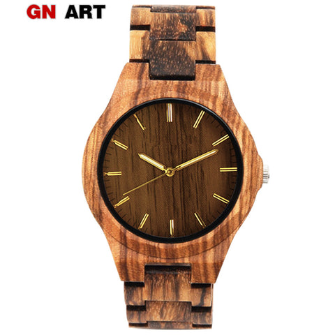 GNART Mens Wooden Wristwatch (REF1084)