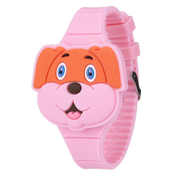 3D Cartoon Dog Childrens Wristwatch (REF1006)