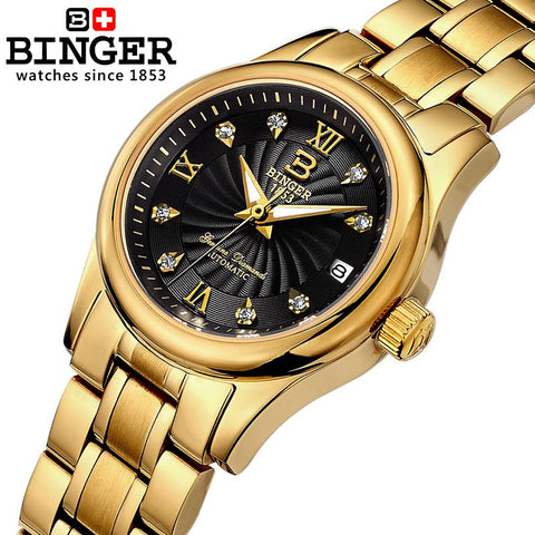 Ladies Mechanical BINGER Wristwatch (REF5203)