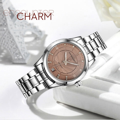 Women's Mechanical Luxury Diamond Automatic Wristwatch (REF5205)