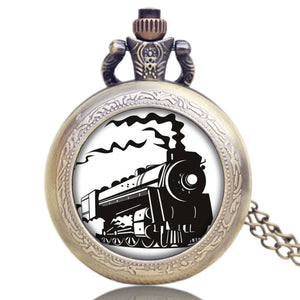 Fob Pocket Watches Locomotive Loco Train Front Design (REF7003)