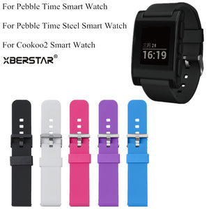 Sports Silicone Watchbands for Pebble Time (REF7100)