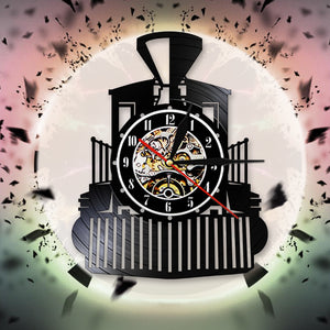 Steam Locomotive Train Wall Clock (REF9015)