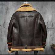 B3 Flight Jacket Sheepskin Aviator Fur - Maherleather