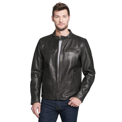 Black Leather Fashion Jacket - Maherleather