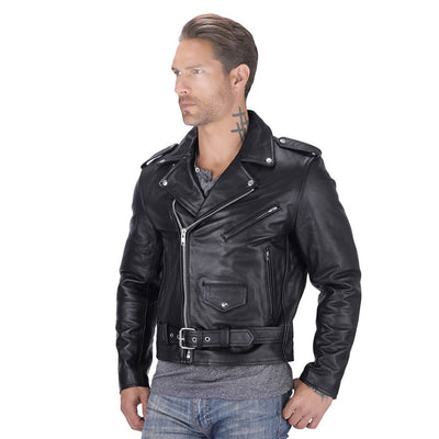 Classic Biker Leather Jacket - Maherleather