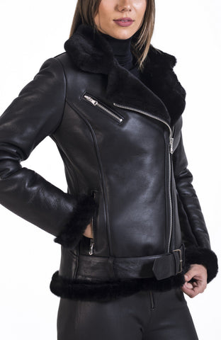 Maher Leather B 3 Bomber Aviator Classic biker Leather Jacket - Maherleather