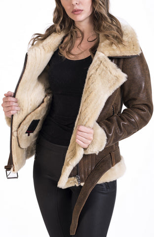 Maher Leather B3 bomber jacket womens aviator - Maherleather