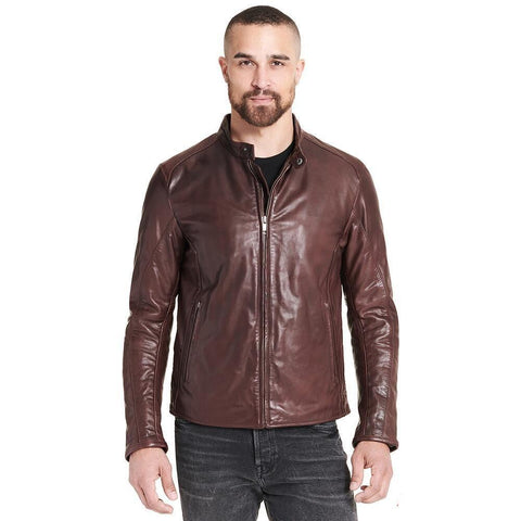 Maher Leather Brown Leather Jacket - Maherleather
