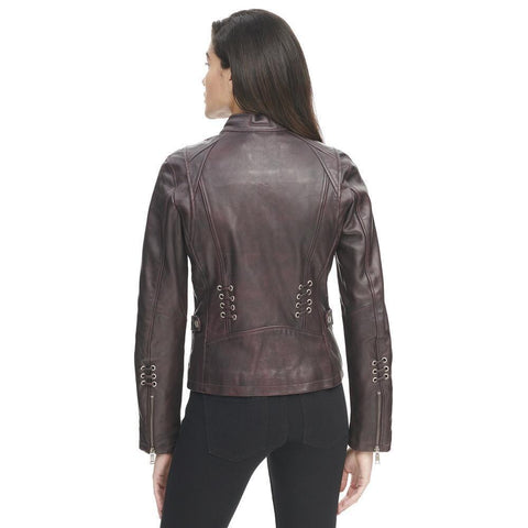 Maher Leather Grommet Placket Vintage Jacket - Maherleather