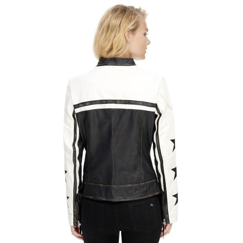 Maher Leather W/ Star Accents Leather Jacket - Maherleather