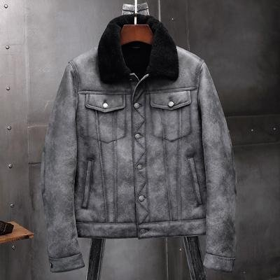 Mens Sheepskin Shearling Bomber Jacket B3 Flight Jacket Pilots Coat - Maherleather