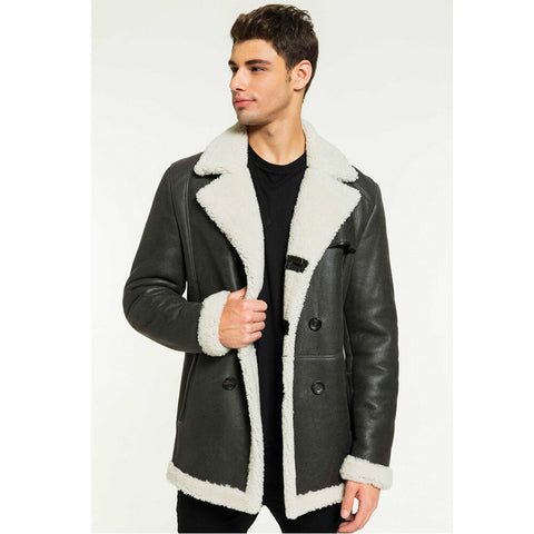Sheepskin Shearling Jacket Brown