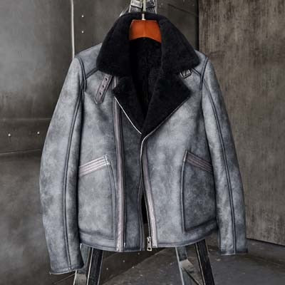 B3 Bomber Jacket Shearling Motorcycle Jacket