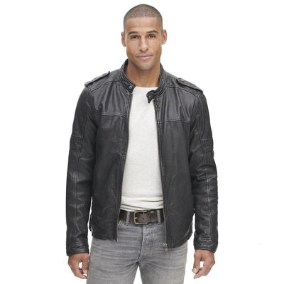 Vintager Multi Pocket W/ Quilted Leather Jacket - Maherleather
