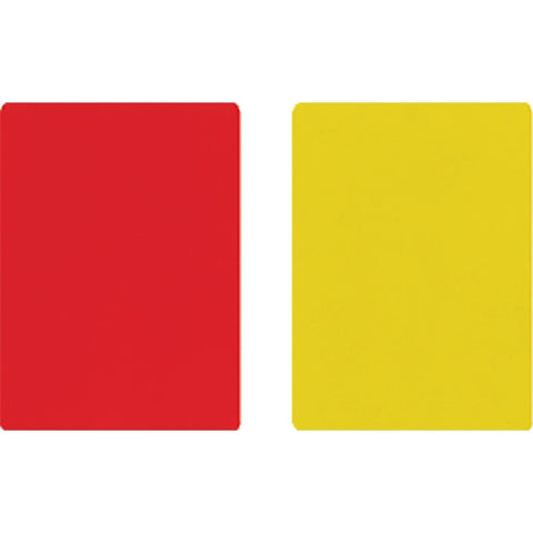 3540 Referee Cards Red/Yellow