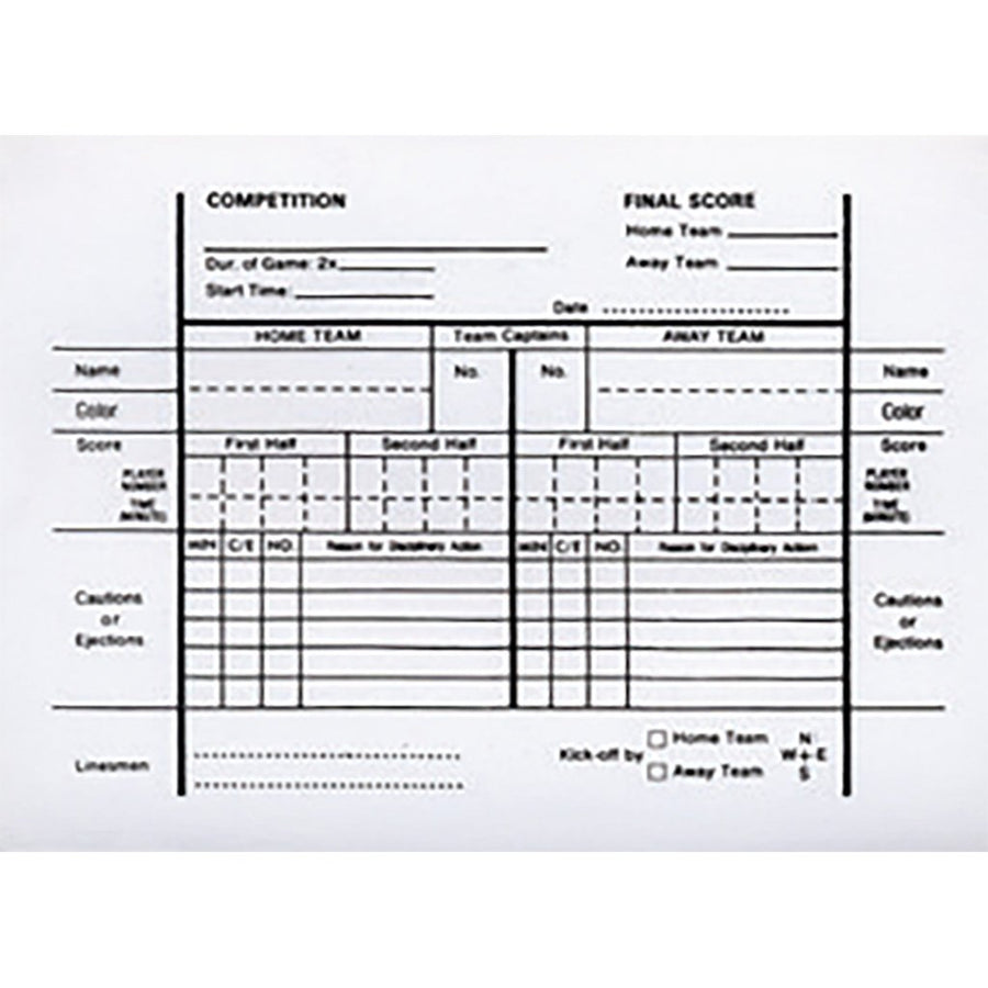 3542 Referee Score Pad