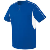 4012 Two Button League Performance Baseball Jersey YOUTH