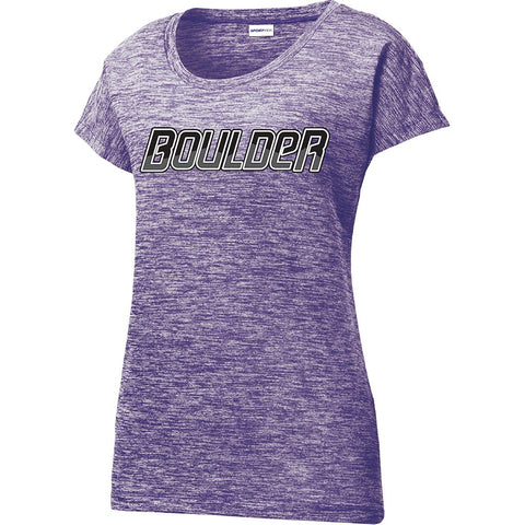 9328 Heather Performance Tee WOMEN'S